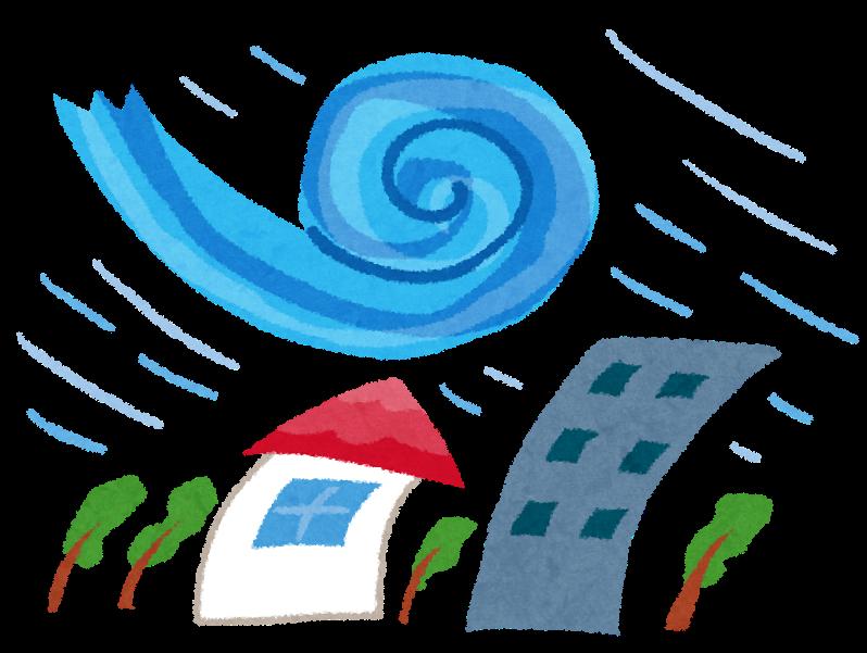 年々増加している台風。。今年は万全な対策で被害から身を守りましょう!!