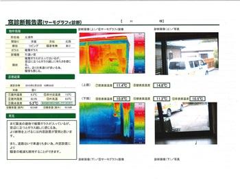 窓診断で数値化されることにより納得したうえで工事をお願いできました。